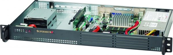 SUPERMICRO 5015A-EHF-D525 BBNS 1U SHORT DEPTH ATOM D525 4GB SODIMM 200W BAREBONE