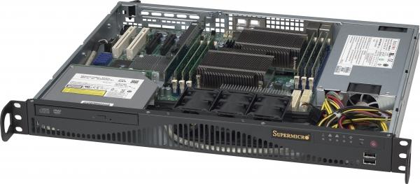 SUPERMICRO 6016T-MR BBNS 1U 5500 14IN DDR3 1X 3.5 SATA 520W BAREBONE