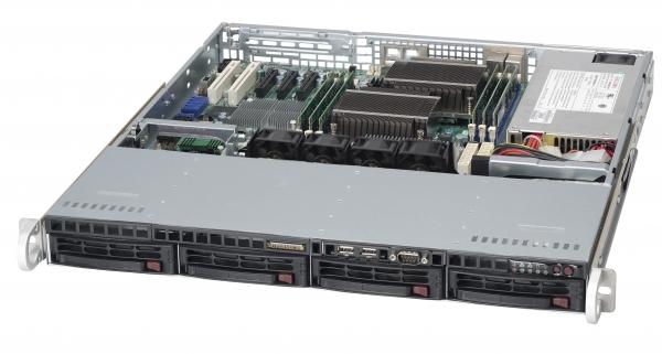 SUPERMICRO 6016T-MTLF BBNS 1U DP 5500 DDR3 PCIE X8 4XSATA IPMI 350W BAREBONE