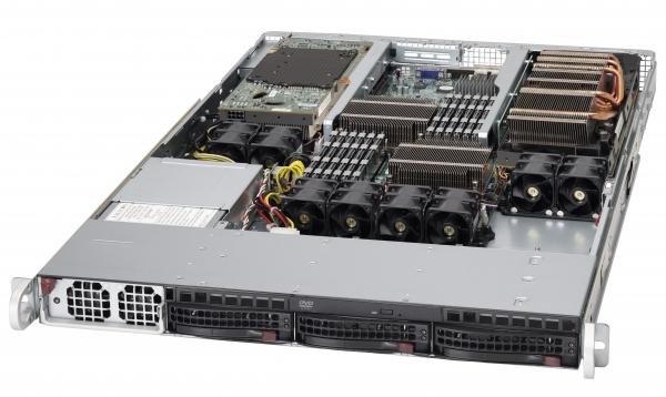 SUPERMICRO 6016GT-TF-FM205BBNS 1U GPU DP 5520 2X FERMI M2050 1400W BAREBONE