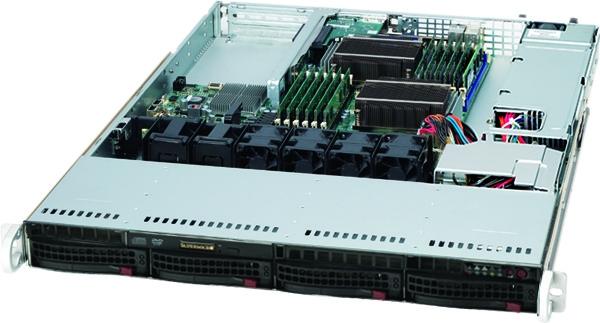 SUPERMICRO 6016T-NTF BBNS 1U 5520 6.4 QPI DDR3 4X SATA 560W BAREBONE
