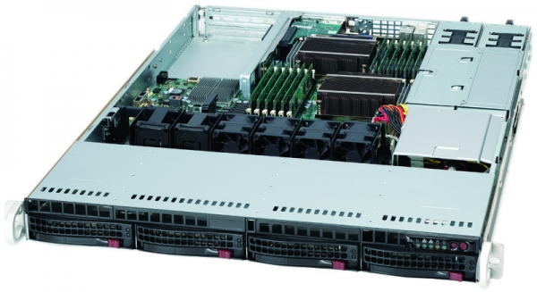 Supermicro 6016T-NTRF - BBNS 1U 5520 6.4 QPI DDR3 4X SATA 650W 1+1 BAREBONE
