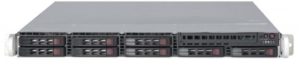 Supermicro 1026T-URFBBNS 1U 5520 QPI 6.4 UIO 8X2.5 SAS/SATA IPMI 650WR BAREBONE
