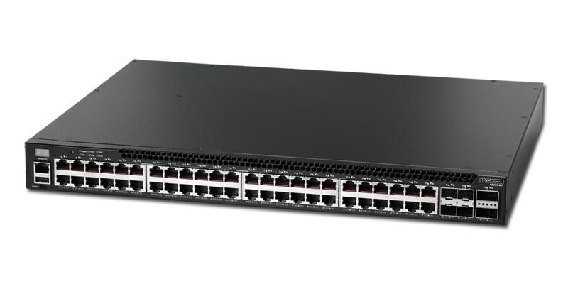 Edgecore AS4610-54T 48 port 10/100/1000Base-T port switch port-to-power airflow