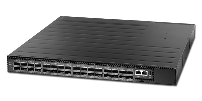 Edgecore AS6812-32X 32-port 40GbE QSFP+ switch port-to-power airflow