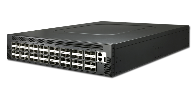 Edgecore AS7816-64X 64-port 100GbE QSFP28 switch port-to-power airflow