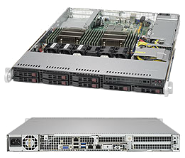 Dual Socket 1U Rackmount Server Data Center Optimized