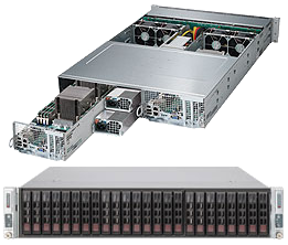 2U 2 Node Dual Socket Rackmount Server GBe