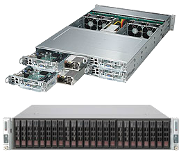 Dual Socket Rackmount Server 2U TwinPro2  2000W PS 10GBase-T