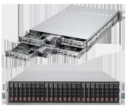 Dual Socket Rackmount Server 2U TwinPro2 LSI 2208 SAS2