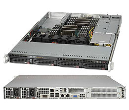 Dual Socket 1U Rackmount Server Redundant Platinum 10GBase-T