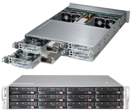 Dual Socket 2U Rackmount Server TwinPro2 HDD