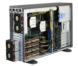 Dual Socket Rackmount Server 4U GPU Tower