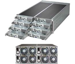 Dual Socket Rackmount Server 4U 8 nodes FatTwin Front IO