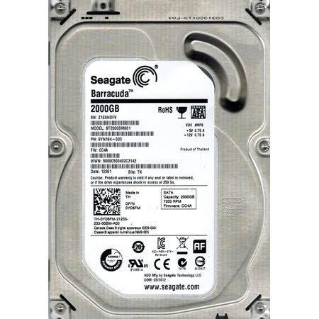 Seagate St2000dm001 2TB 7200 RPM 64mb Cache Sata 6.0gb/s 3.5 inch Internal OEM HDD