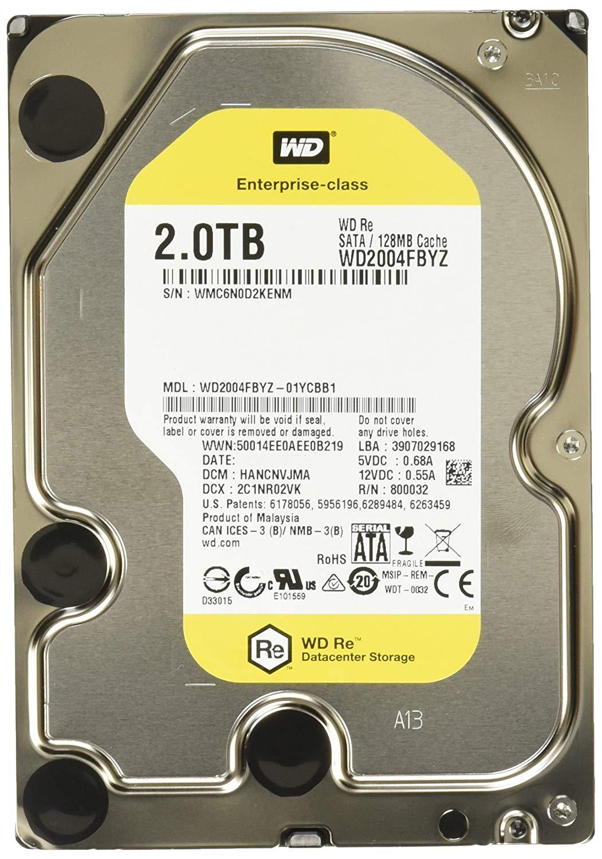 Western Digital WD2004FBYZ 2TB SATA 7200RPM 128MB Hard Drive