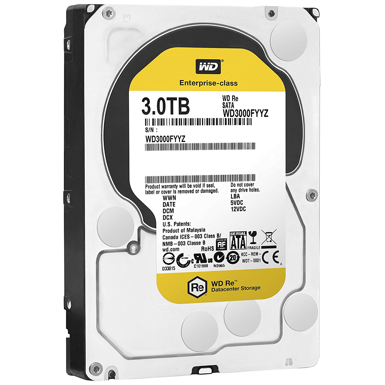 Western Digital WD3000FYYZ 3TB 7200 RPM 64MB Hard Drive