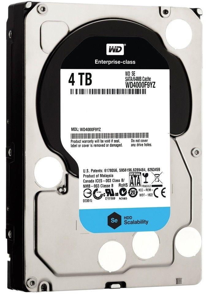 "Western Digital Wd4000F9Yz 4Tb 7200Rpm Sata3/Sata 60 Gb/S 64Mb 3.5"" Enterprise Hard Drive"