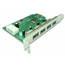 GWC Technology PU3040 USB 3.0 4-Port PCI Express Card
