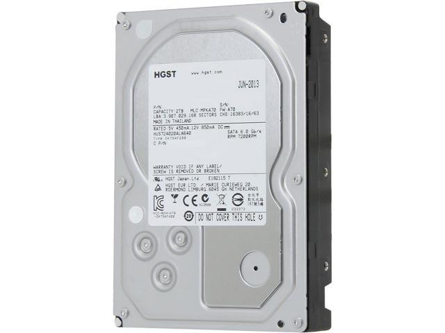 "HGST 0F14690  Ultrastar 7K4000 2 TB 3.5"" 7200 RPM SATA Internal Enterprise Hard Drive"