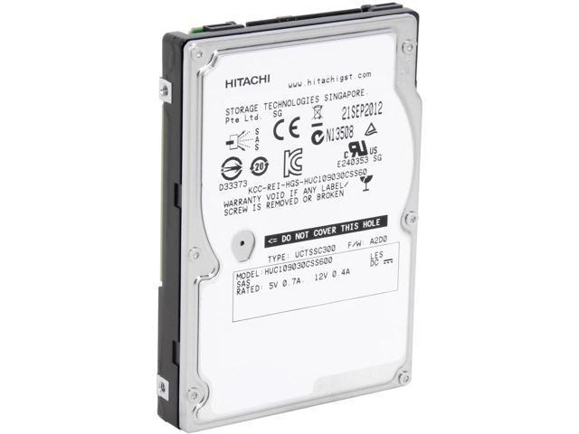 Hitachi 0B26011 HDD 300GB SAS Enterprise 10K 64MB 2.5inch Ultrastar 6Gb-s Bare Drive