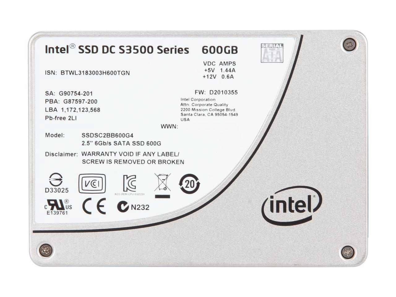 Intel SSDSC2BB600G401 600GB 2.5-Inch SATA Internal Solid State Drive