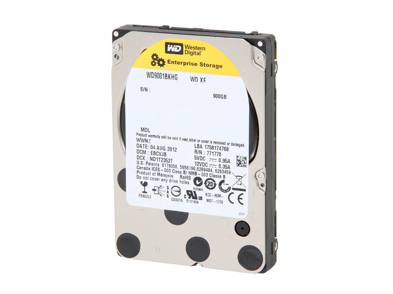 """Western Digital XE WD9001BKHG 900GB 10000 RPM 32MB Cache SAS 6Gb/s 2.5"""" Internal Enterprise Hard Drive Bare Drive"""