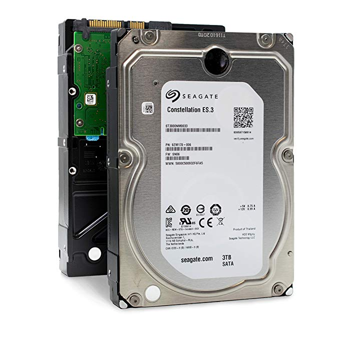 "Seagate ST3000NM0033 | 3TB 7.2K RPM 128 MB Cache 3.5"" SATA 6Gb/s 